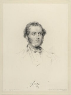 John Robert Townshend, 1st Earl Sydney, by Frederick Christian Lewis Sr, after  George Richmond - NPG D20663