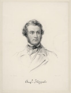 Augustus Stafford O'Brien Stafford, by William Holl Jr, after  George Richmond - NPG D20666