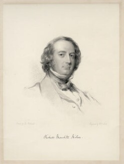 Richard Monckton Milnes, 1st Baron Houghton, by William Holl Jr, after  George Richmond - NPG D20668