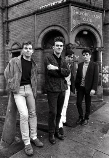 The Smiths (Andy Rourke; Morrissey; Johnny Marr; Mike Joyce), by Stephen Wright, 1985 - NPG x127392 - © Stephen Wright / www.smithsphotos.com