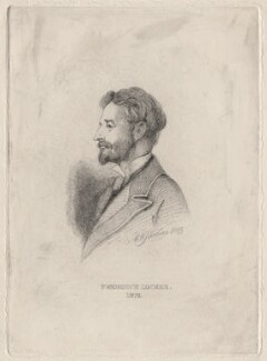 Frederick Locker-Lampson, by Charles William Sherborn, after  George Du Maurier - NPG D21184