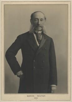 (Paul) Julius de Reuter, Baron de Reuter (né Israel Beer Josaphat), by Elliott & Fry - NPG x127476