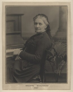 Clara Schumann, by Clarence Edmund Fry, for  Elliott & Fry - NPG x127480