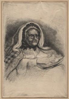Mrs James, by Charles William Sherborn - NPG D21197