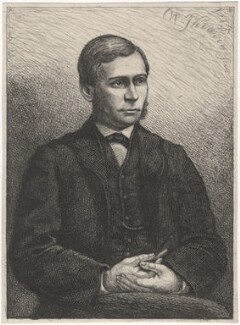Thomas Hill Green, by Charles William Sherborn - NPG D21198