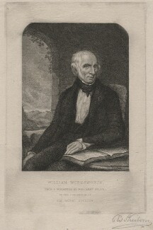 William Wordsworth, by Charles William Sherborn, after  Margaret Gillies - NPG D21204