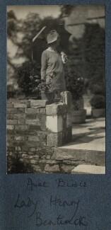 'Aunt Birdie' (Olivia (née Taylour), Lady Cavendish-Bentinck), by Lady Ottoline Morrell - NPG Ax142560