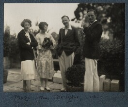 Julian Morrell with friends at Garsington, by Lady Ottoline Morrell - NPG Ax142566