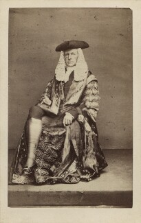 (John) Evelyn Denison, 1st Viscount Ossington, by John & Charles Watkins, or by  John Watkins, circa 1863 - NPG Ax29675 - © National Portrait Gallery, London