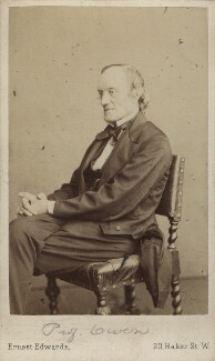 Sir Richard Owen, by Ernest Edwards - NPG Ax29678