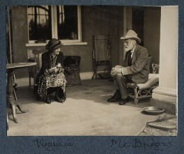 Virginia Woolf; Robert Bridges, by Lady Ottoline Morrell - NPG Ax142575