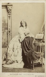 Katharine Hickson, by Oliver François Xavier Sarony - NPG Ax16405