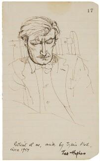 Ted Hughes, by Sylvia Plath - NPG 6739