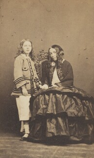 Robert Wiedemann Barrett Browning; Elizabeth Barrett Browning, by Fratelli D'Alessandri - NPG P1094