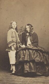 Robert Wiedemann Barrett Browning; Elizabeth Barrett Browning, by Fratelli D'Alessandri - NPG P1094