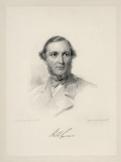 Hugh McCalmont Cairns, 1st Earl Cairns, by William Holl Jr, after  George Richmond - NPG D20695
