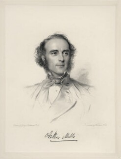 Arthur Mills, by William Holl Jr, after  George Richmond - NPG D20699