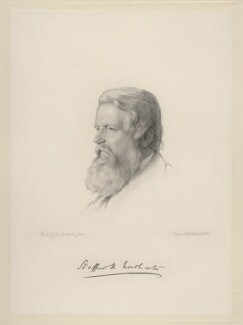 Sir Stafford Henry Northcote, 1st Earl of Iddesleigh, by William Holl Jr, after  George Richmond, 1865 or after - NPG D20701 - © National Portrait Gallery, London