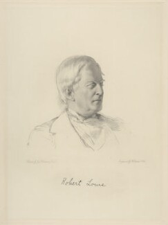 Robert Lowe, 1st Viscount Sherbrooke, by William Holl Jr, after  George Richmond - NPG D20703