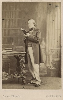 Philip Stanhope, 5th Earl Stanhope, by Ernest Edwards, 1863 - NPG Ax30353 - © National Portrait Gallery, London