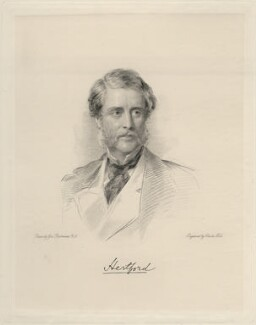 Francis George Hugh Seymour, 5th Marquess of Hertford, by Charles Holl, after  George Richmond - NPG D20706