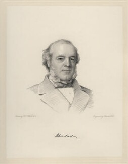 Henry Austin Bruce, 1st Baron Aberdare, by Charles Holl, after  Henry Tanworth Wells, 1868 or after - NPG D20713 - © National Portrait Gallery, London