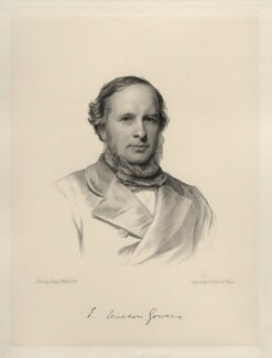 Hon. (Edward) Frederick Leveson-Gower, by Charles Holl, and by  A. Roberts, after  Henry Tanworth Wells - NPG D20715