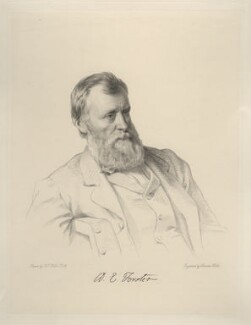 William Edward Forster, by Charles Holl, after  Henry Tanworth Wells - NPG D20717