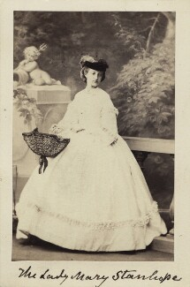 Mary Catherine Lygon (née Stanhope), Countess Beauchamp, by Camille Silvy - NPG Ax30366