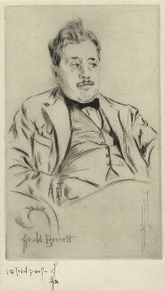 Arnold Bennett, by Richard George Mathews - NPG D21218