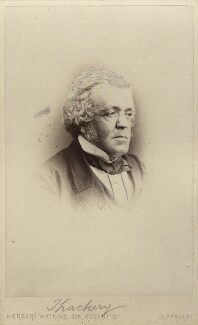William Makepeace Thackeray, by Herbert Watkins - NPG Ax30392