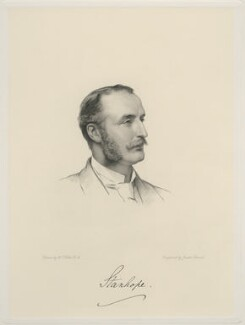 Arthur Philip Stanhope, 6th Earl Stanhope, by Joseph Brown, after  Henry Tanworth Wells - NPG D20720