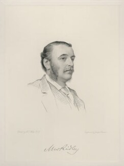 Matthew White Ridley, 1st Viscount Ridley, by Joseph Brown, after  Henry Tanworth Wells - NPG D20726
