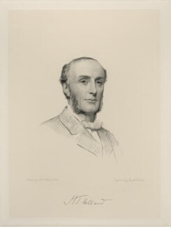 Henry Thurstan Holland, 1st Viscount Knutsford, by Joseph Brown, after  Henry Tanworth Wells - NPG D20727