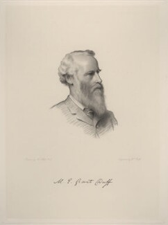 Sir Mountstuart Elphinstone Grant-Duff, by William Roffe, after  Henry Tanworth Wells - NPG D20735