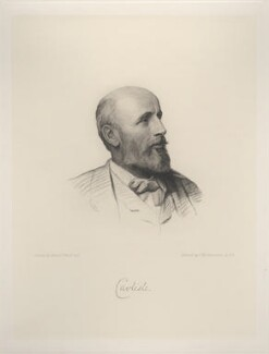 George James Howard, 9th Earl of Carlisle, by Charles William Sherborn, after  Henry Tanworth Wells - NPG D20737