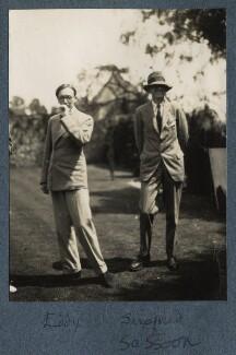 Edward ('Eddy') Sackville-West; Siegfried Sassoon, by Lady Ottoline Morrell - NPG Ax142581