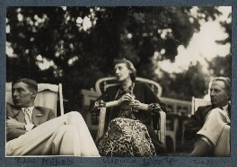 Sir Philip Bouverie Bowyer Nichols; Virginia Woolf; Philip Edward Morrell, by Lady Ottoline Morrell - NPG Ax142586