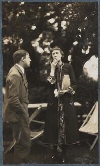 Sir Maurice Bowra; Virginia Woolf, by Lady Ottoline Morrell - NPG Ax142593
