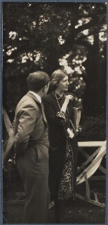 Sir Maurice Bowra; Virginia Woolf, by Lady Ottoline Morrell - NPG Ax142594