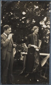 Sir Maurice Bowra; Virginia Woolf, by Lady Ottoline Morrell - NPG Ax142595