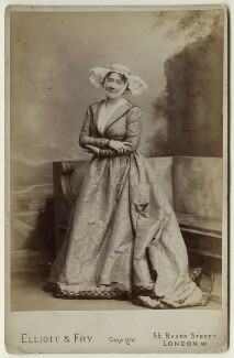 Madge Kendal in 'The Merry Wives of Windsor', by Elliott & Fry, 1902 - NPG  - © National Portrait Gallery, London