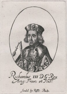 King Richard III, sold by Sir Robert Peake, probably after  William Faithorne, early 1640s - NPG D21256 - © National Portrait Gallery, London