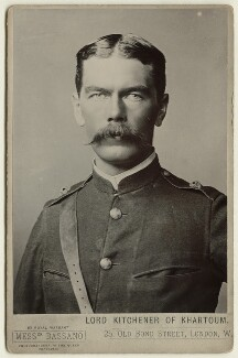 Herbert Kitchener, 1st Earl Kitchener, by Alexander Bassano - NPG x127979