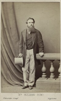 William Holman Hunt, by London Stereoscopic & Photographic Company, circa 1865 - NPG Ax14942 - © National Portrait Gallery, London