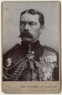 Herbert Kitchener, 1st Earl Kitchener, by Alexander Bassano - NPG x127984