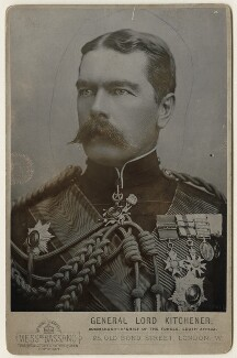 Herbert Kitchener, 1st Earl Kitchener, by Alexander Bassano - NPG x127985