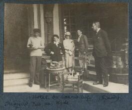 'Hôtel du Grand Cerf: Siegfried, Bob, me, Kyrle, Daddy', by Lady Ottoline Morrell - NPG Ax142608