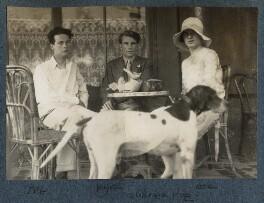 Bob Gathorne-Hardy; Kyrle Leng; Julian Vinogradoff (née Morrell), by Lady Ottoline Morrell - NPG Ax142609