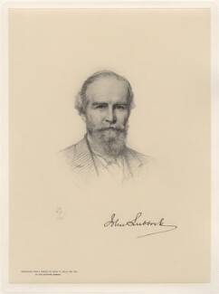 John Lubbock, 1st Baron Avebury, after Henry Tanworth Wells - NPG D20741